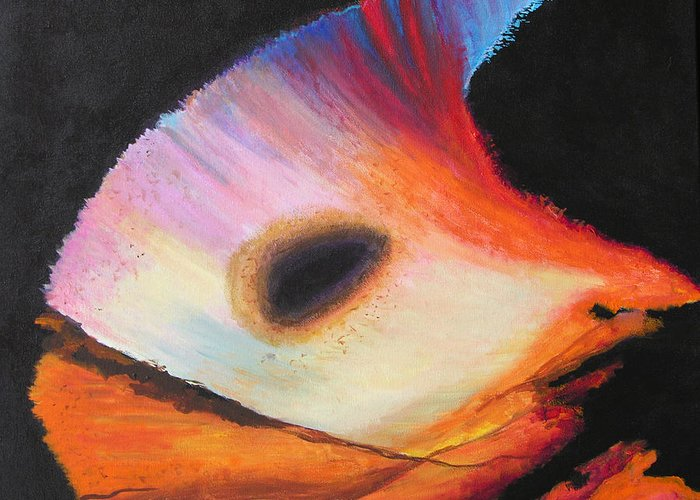 Abstract Greeting Card featuring the painting Inspire Two by Stan Hamilton