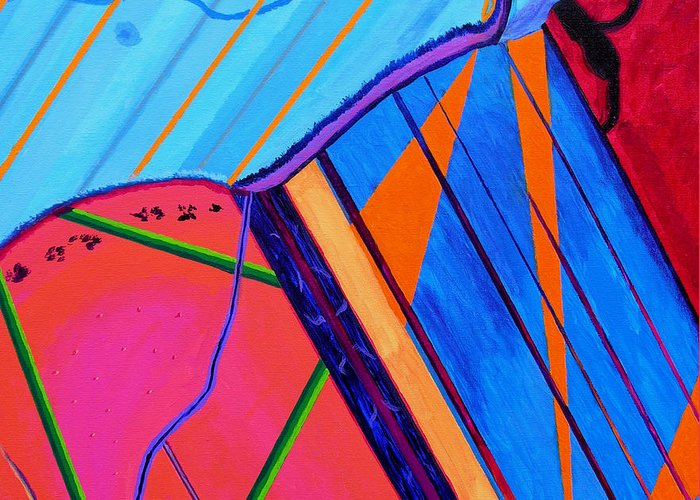 Abstract Greeting Card featuring the painting Inspire Vii by Stan Hamilton