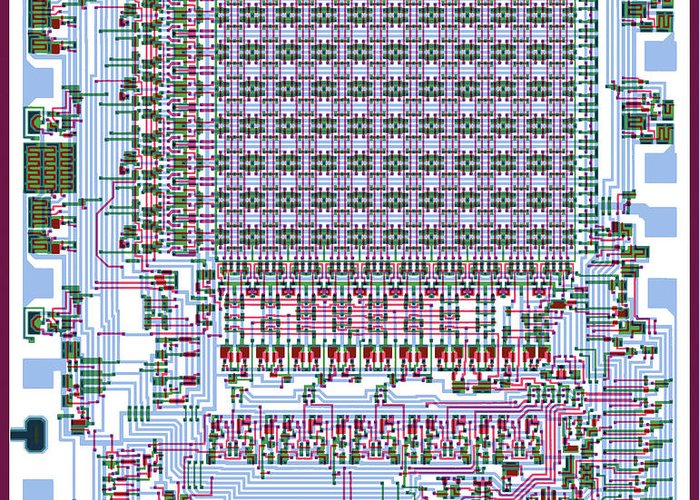 Intel 4002 Mos Ram Silicon Wafer Integrated Circuit Mask ...