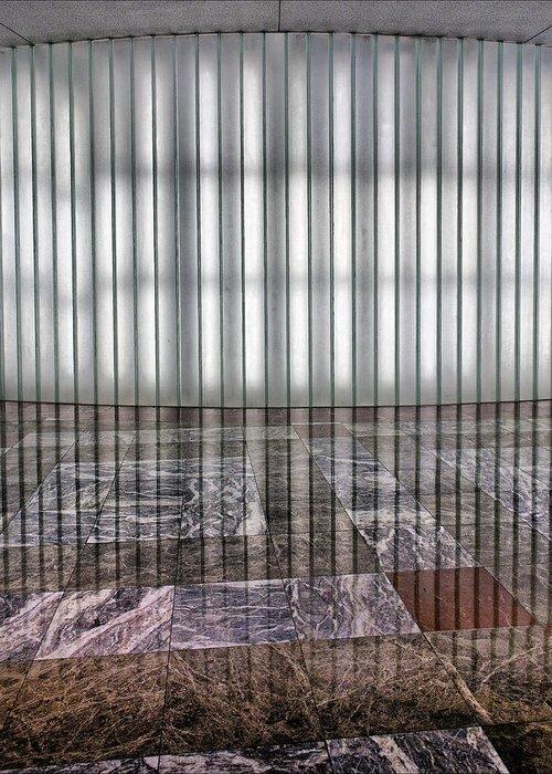 World Financial Center Greeting Card featuring the photograph Interior Wall World Financial Center by Robert Ullmann