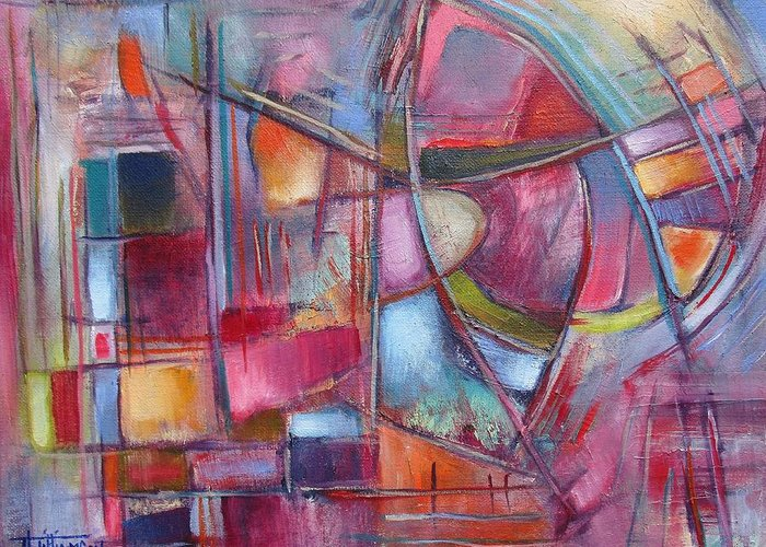 Oil On Canvas Greeting Card featuring the painting Internal Dynamics # 8 by Jason Williamson