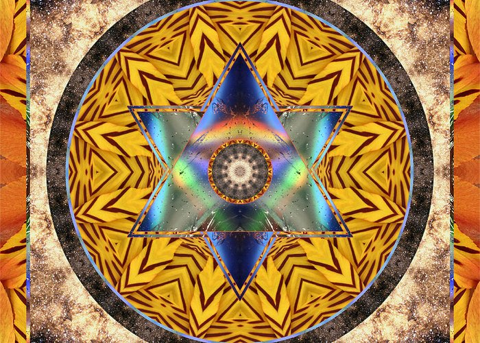 Yoga Art Greeting Card featuring the photograph Interspectra by Bell And Todd