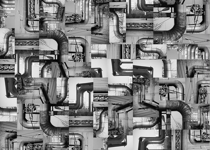 Pipes Greeting Card featuring the photograph Intestins by Gabriela Insuratelu