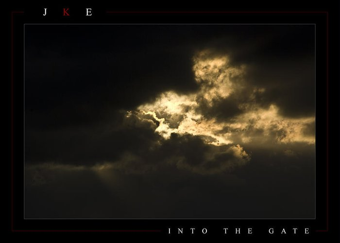 Sky Greeting Card featuring the photograph Into The Gate by Jonathan Ellis Keys