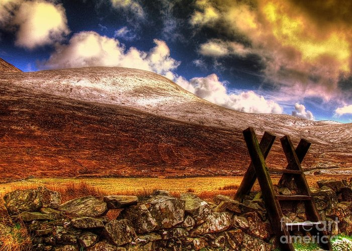 Mourne Greeting Card featuring the photograph Into The Wild by Kim Shatwell-Irishphotographer