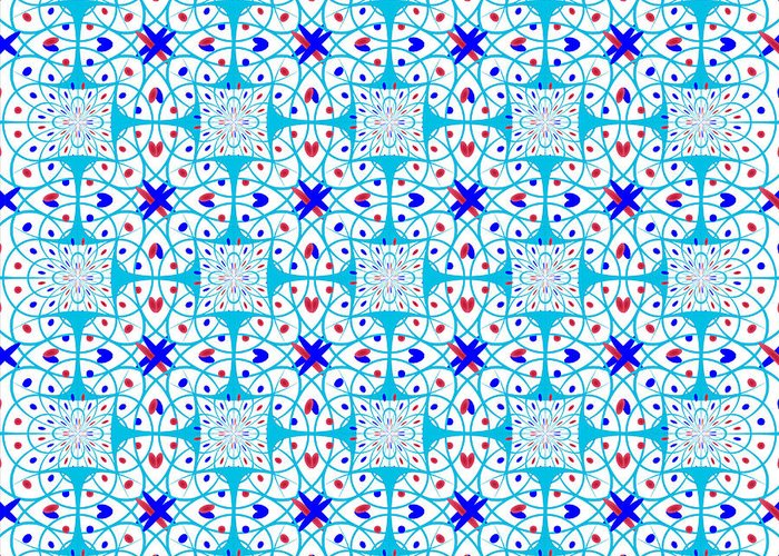 Pattern Greeting Card featuring the digital art Intricate Geometric Pattern by Gaspar Avila