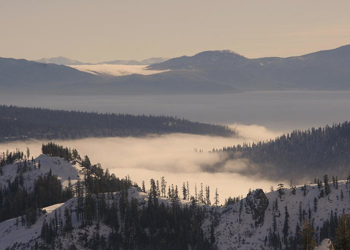 Lake Tahoe Greeting Card featuring the photograph Inversion by Adam Blankenship
