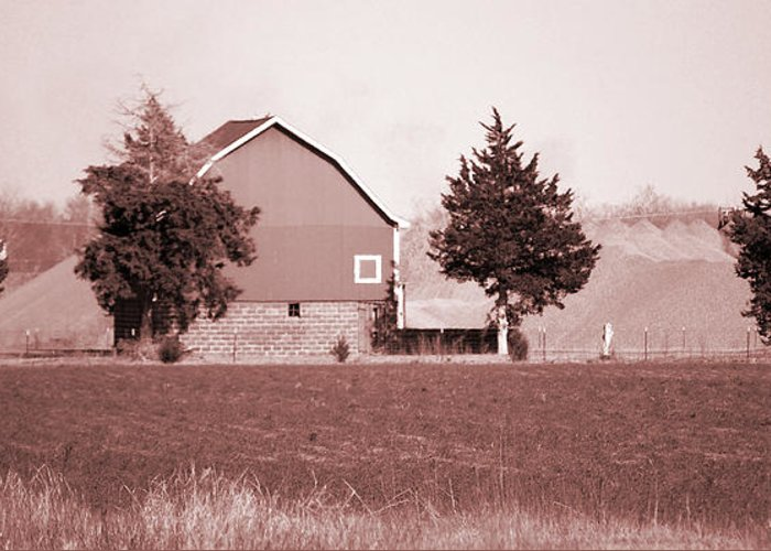 Barn Greeting Card featuring the photograph Iowa Landscape by Jame Hayes