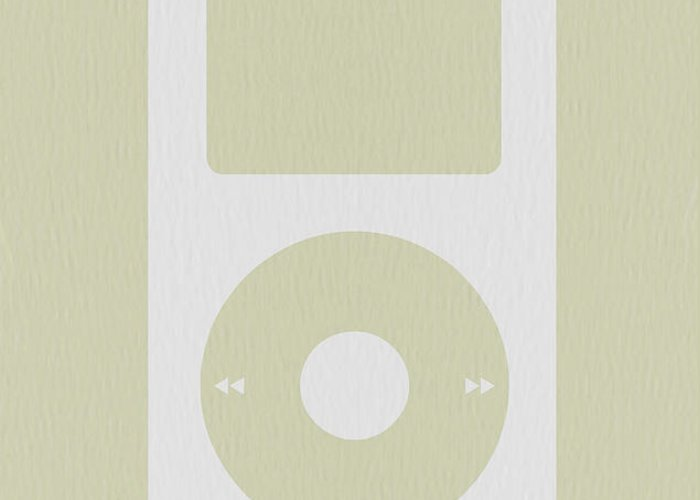 Ipod Greeting Card featuring the photograph iPod by Naxart Studio