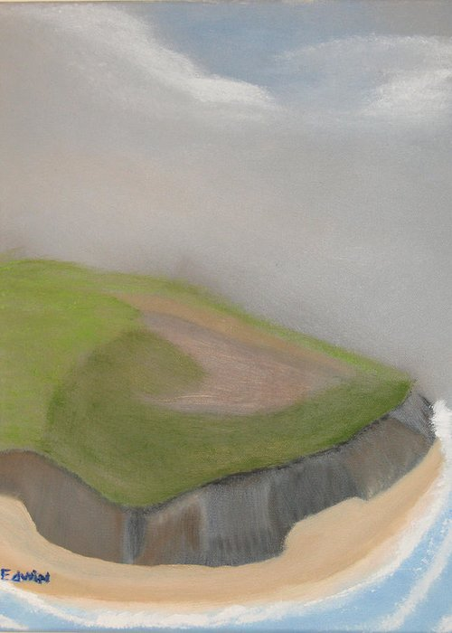 Ireland Greeting Card featuring the painting Ireland Cliffs by Edwin Long