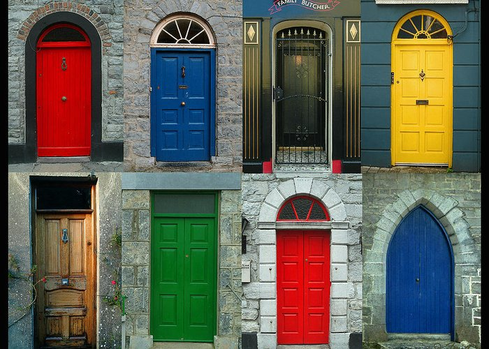 Irish Greeting Card featuring the photograph Irish Doors by Joe Bonita