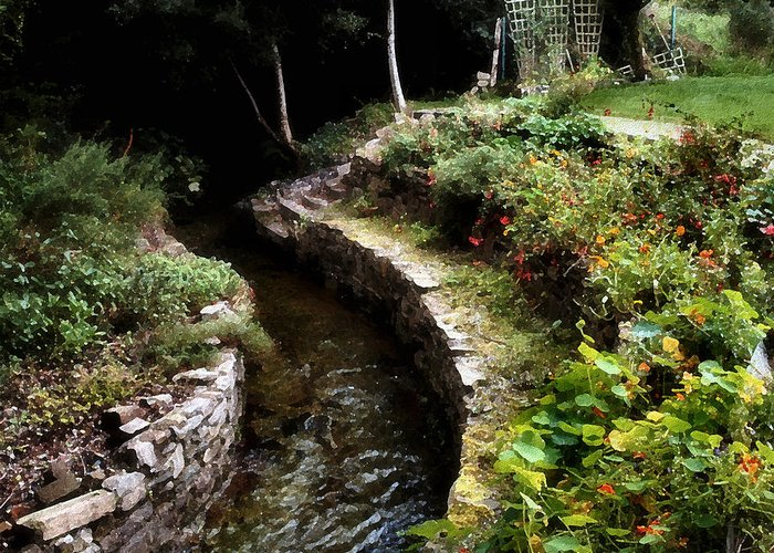 Irish Garden Stream Greeting Card For Sale By Joe Bonita