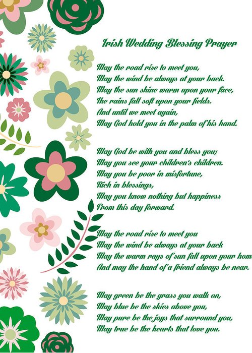 Irish Wedding Blessing Prayer Greeting Card for Sale by Celestial Images