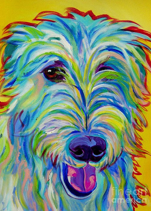Dog Greeting Card featuring the painting Irish Wolfhound - Angus by Alicia VanNoy Call
