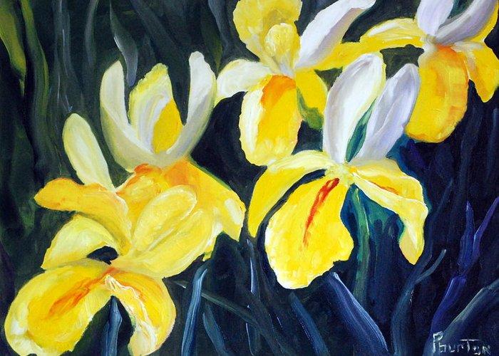 Irisis Greeting Card featuring the painting Irisis by Phil Burton