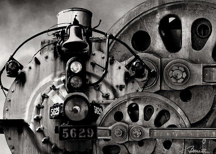 Steam Engine Greeting Card featuring the photograph Iron Circles No. 1 by Joe Bonita