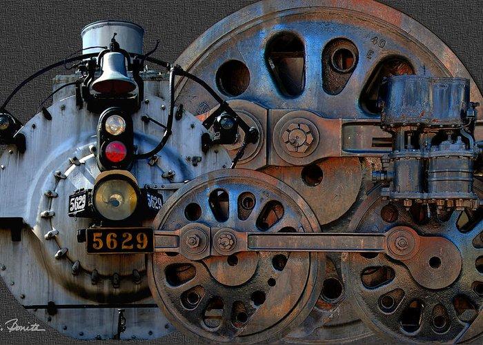 Steam Engine Greeting Card featuring the photograph Iron Circles No. 2 by Joe Bonita