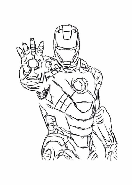 coloring pages black iron man - photo#23