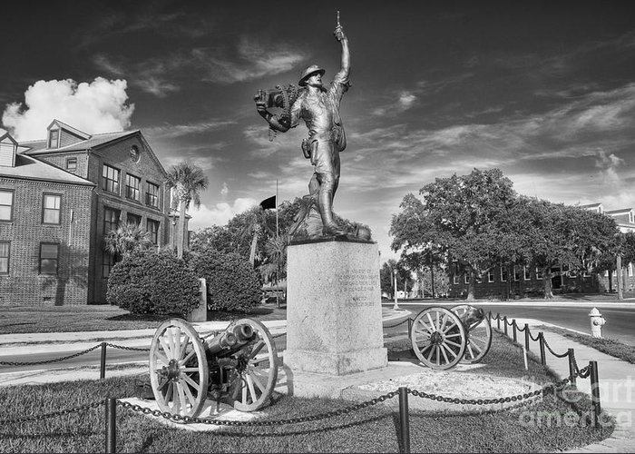 iron Mike Greeting Card featuring the photograph Iron Mke Statue - Parris Island by Scott Hansen