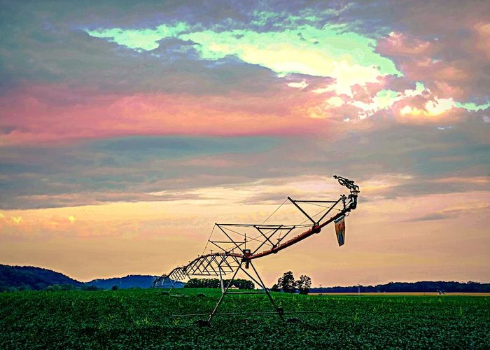 Rural Greeting Card featuring the photograph Irrigation by Doug Wallick