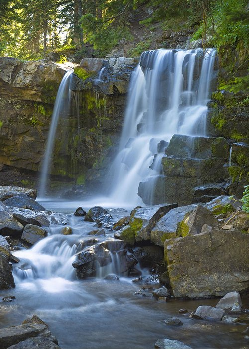 Dusty Demerson Greeting Card featuring the photograph Irwin Falls by Dusty Demerson