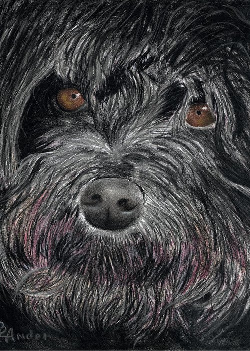 Dog Greeting Card featuring the drawing Is That A Smile by Brent Ander