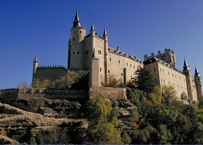 Royal Greeting Card featuring the photograph Isabella's Castle In Segovia by Carl Purcell