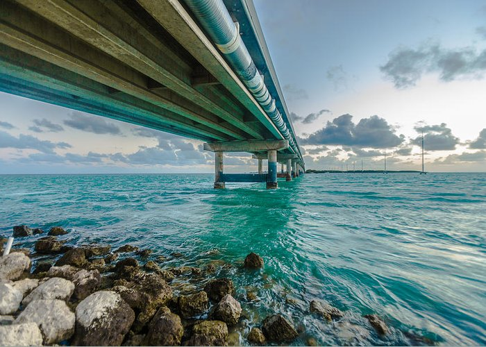 Bridge Greeting Card featuring the photograph Islamorada Crossing by Dan Vidal