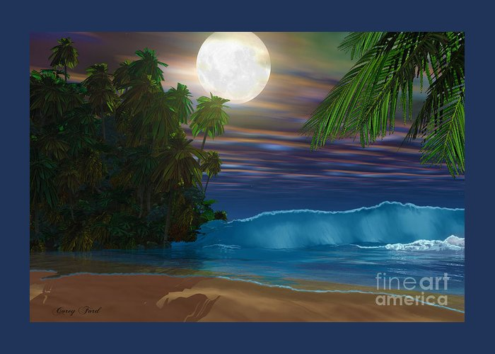 Beach Greeting Card featuring the painting Island Beach by Corey Ford