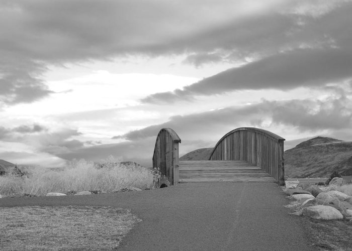 Bridge Greeting Card featuring the photograph Isolation by Kiwi Lee
