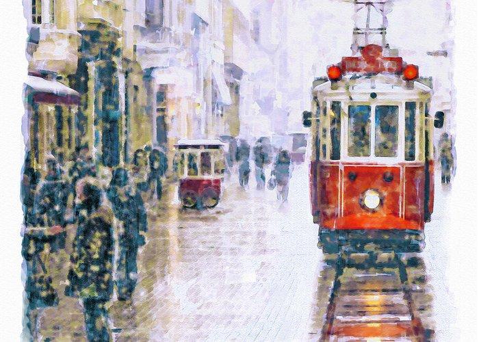 Istanbul Mixed Media Greeting Cards