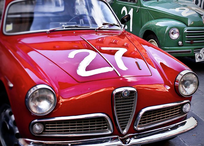 Classic Greeting Card featuring the photograph Italian Classics Alfa Romeo by Patrick English