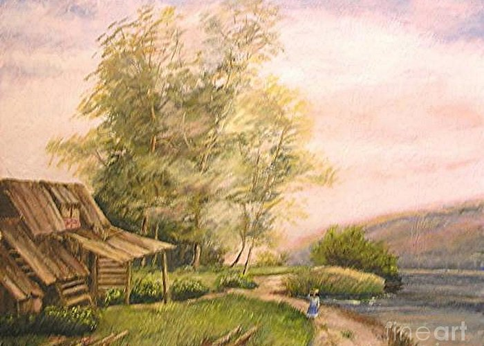 Landscape Painting Greeting Card featuring the painting Italian Countryside by Nicholas Minniti
