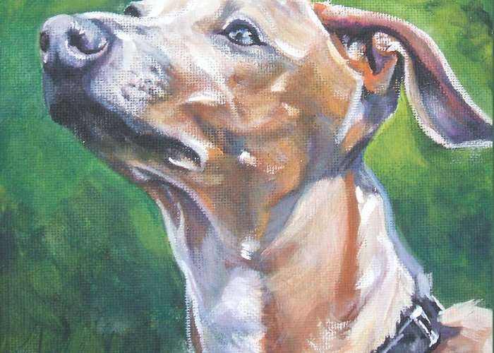 Italian Greyhound Greeting Card featuring the painting Italian Greyhound by Lee Ann Shepard
