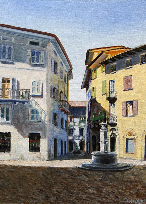 Italy Greeting Card featuring the painting Italian Street by Paul Walsh