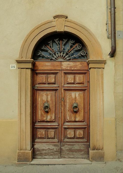 Europe Greeting Card featuring the photograph Italy - Door One by Jim Benest