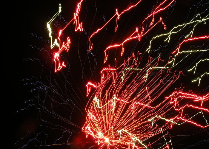 Fireworks Greeting Card featuring the photograph Its Electric by James and Vickie Rankin