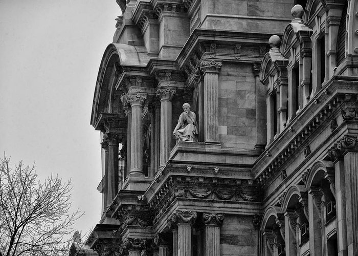 It's In The Details - Philadelphia City Hall Greeting Card featuring the photograph It's In The Details - Philadelphia City Hall by Bill Cannon