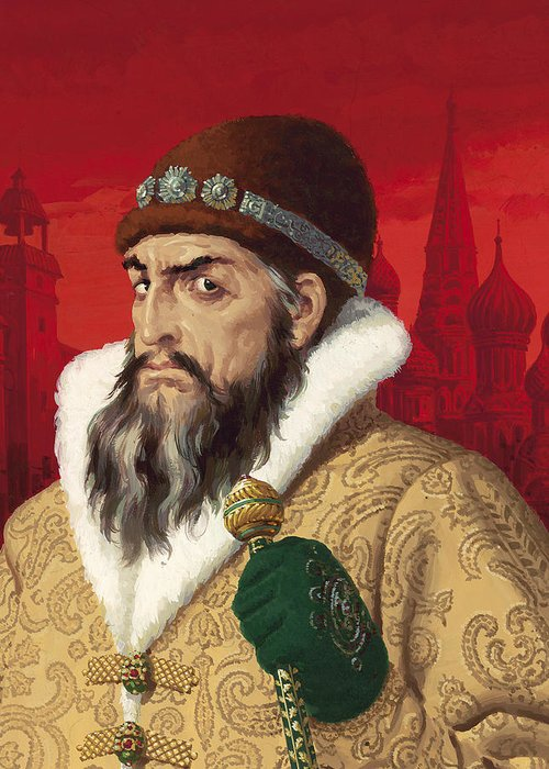 Ivan Greeting Card featuring the painting Ivan The Terrible by English School