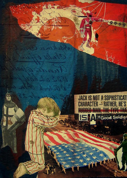 War Greeting Card featuring the mixed media Jack by Adam Kissel