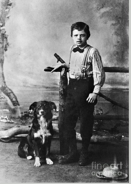 1880s Greeting Card featuring the photograph Jack London (1876-1916) by Granger