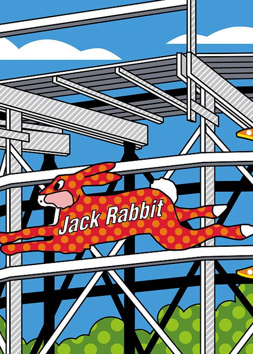 Jack Rabbit Greeting Card featuring the digital art Jack Rabbit by Ron Magnes