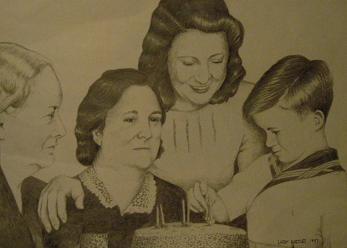 1940s Greeting Card featuring the drawing Jack's Birthday by Larry Whitler