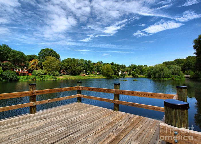 Pond Greeting Card featuring the photograph Jackson Pond by Valerie Morrison