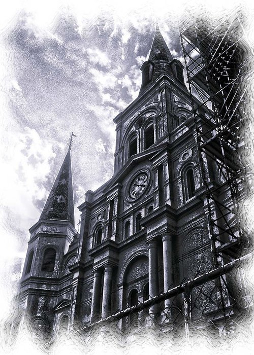 New Orleans Greeting Card featuring the photograph Jackson Square Cathedral by Linda Kish