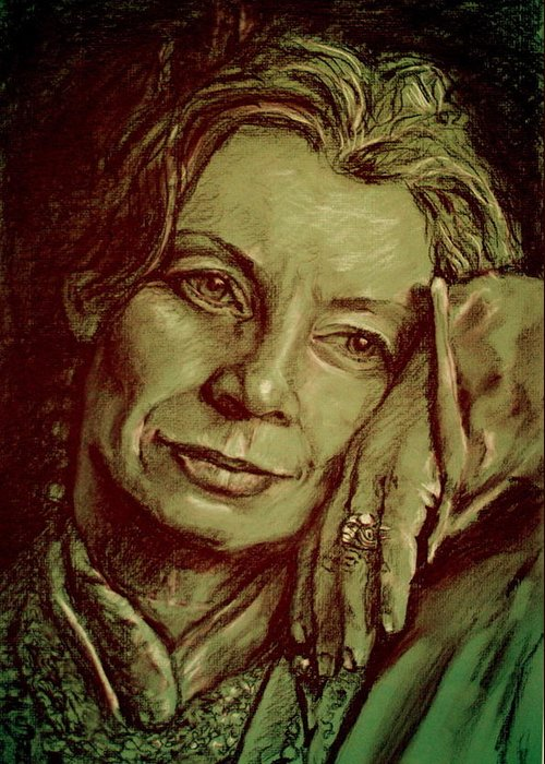 Portrait Artwork Greeting Card featuring the painting Jacqueline by Dan Earle