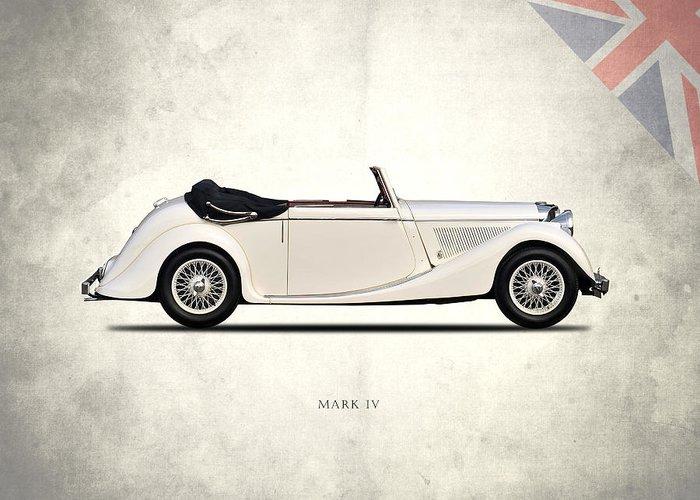 Jaguar Greeting Card featuring the photograph Jaguar Mark Iv Coupe by Mark Rogan