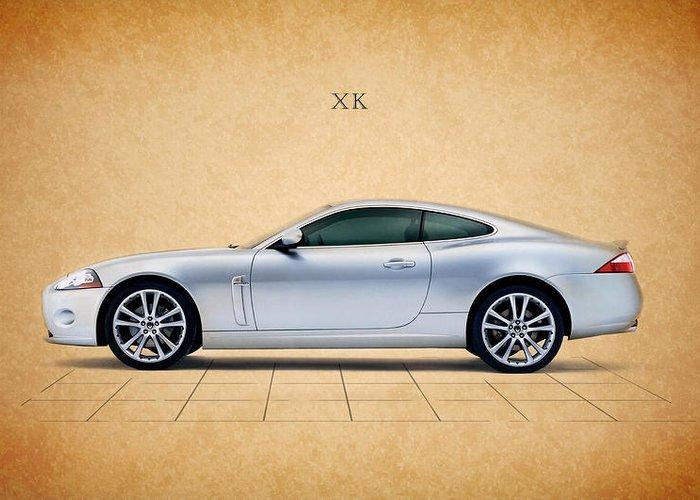 Jaguar Greeting Card featuring the photograph Jaguar Xk by Mark Rogan