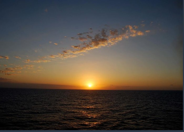 Sunset Greeting Card featuring the photograph Jamaican Sunset by Gary Wonning