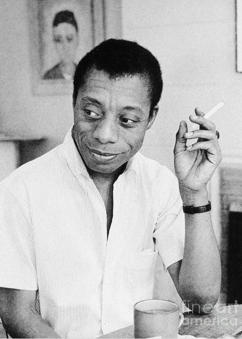 1950s Greeting Card featuring the photograph James Baldwin by Granger
